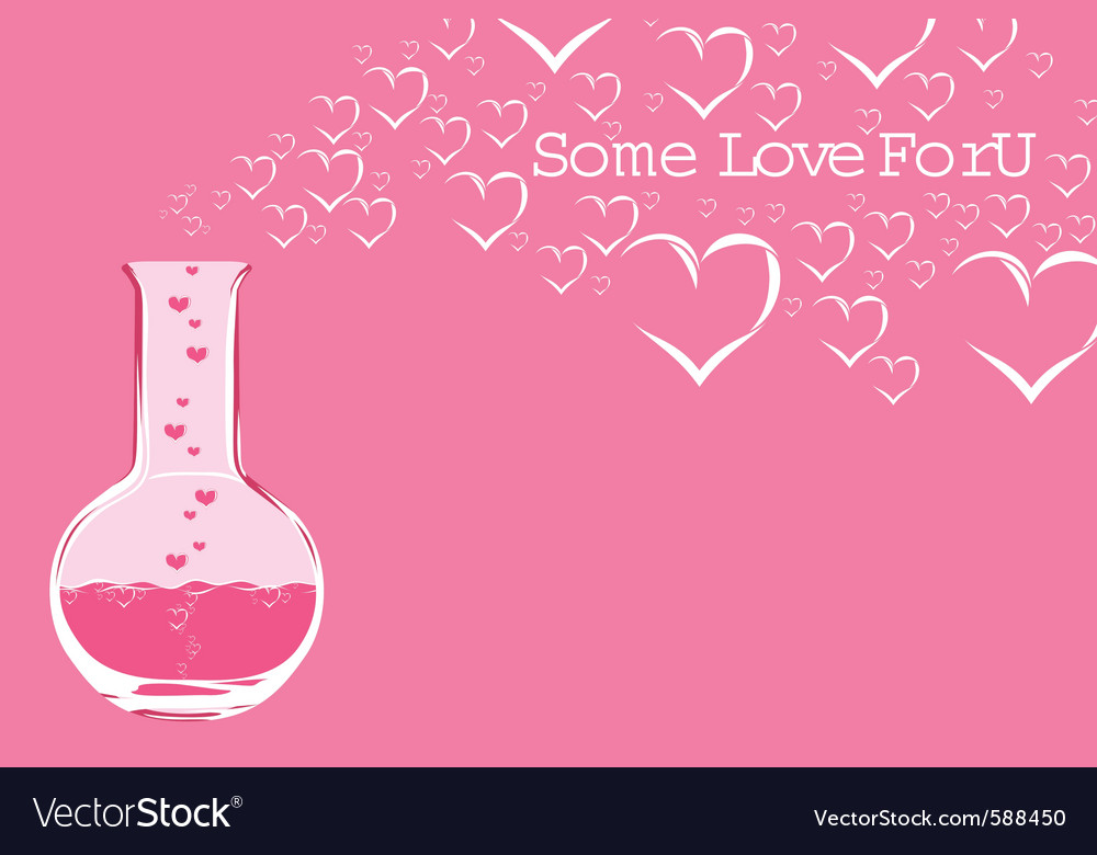 Chemistry love vector | Price: 1 Credit (USD $1)