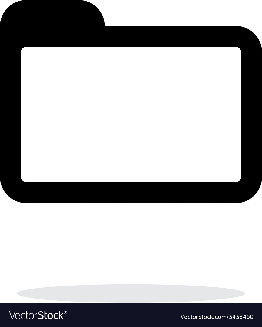 Folder icon on white background vector | Price: 1 Credit (USD $1)
