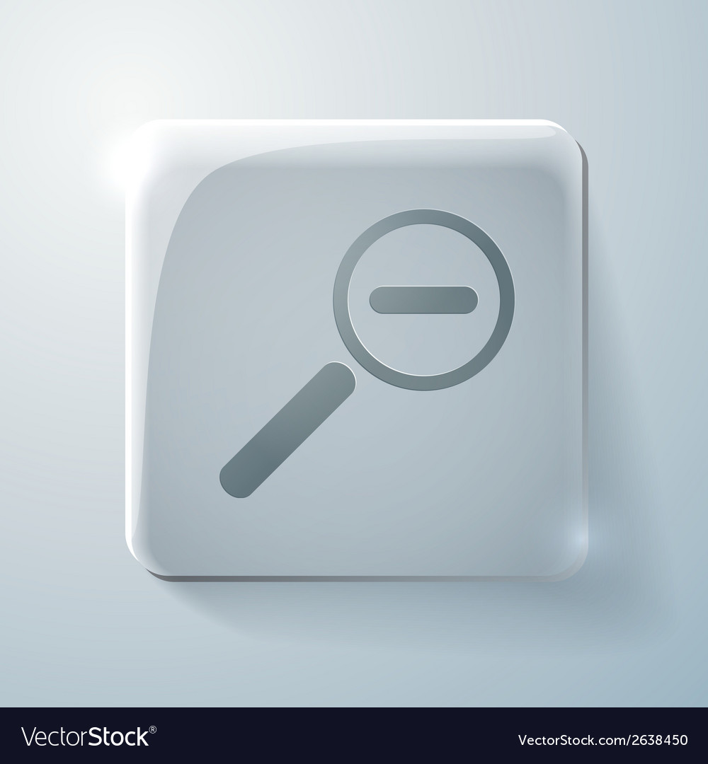 Glass icon with highlights magnifier reduction vector | Price: 1 Credit (USD $1)
