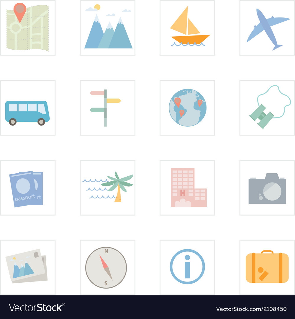 Icon travel vector | Price: 1 Credit (USD $1)