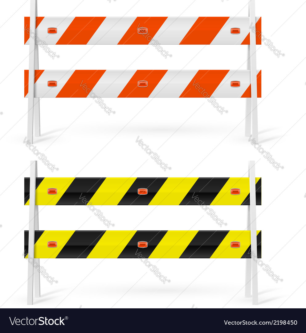 Road barriers vector | Price: 1 Credit (USD $1)