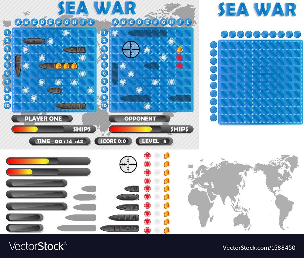 Sea war infographics vector | Price: 1 Credit (USD $1)