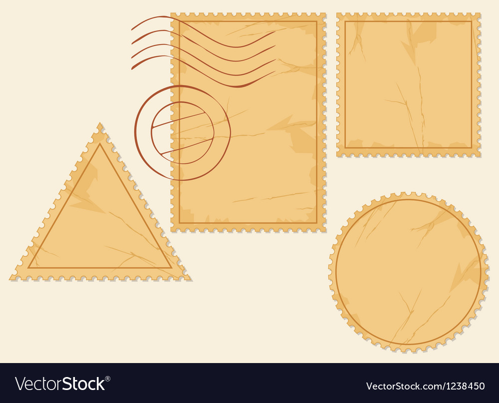 Set of blank postage stamps vector | Price: 1 Credit (USD $1)