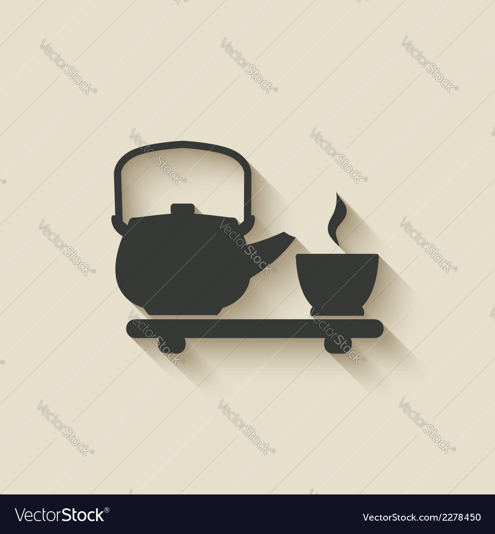 Tea ceremony icon vector | Price: 1 Credit (USD $1)