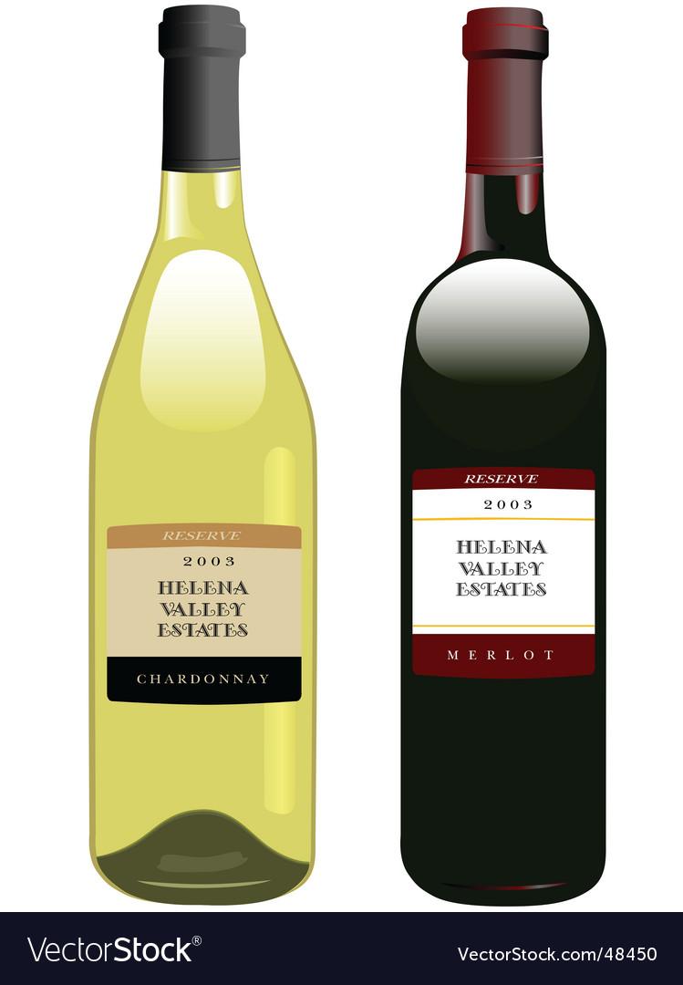 Vintage wine in bottles vector | Price: 1 Credit (USD $1)