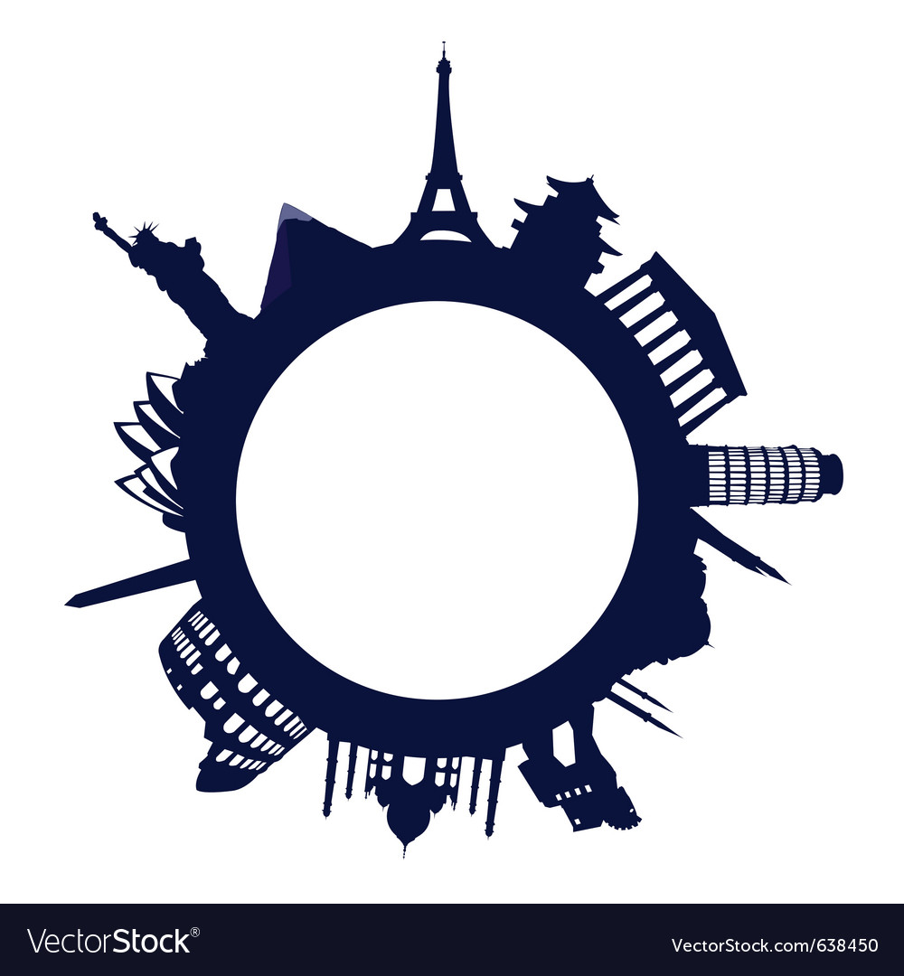 World landmarks vector | Price: 1 Credit (USD $1)