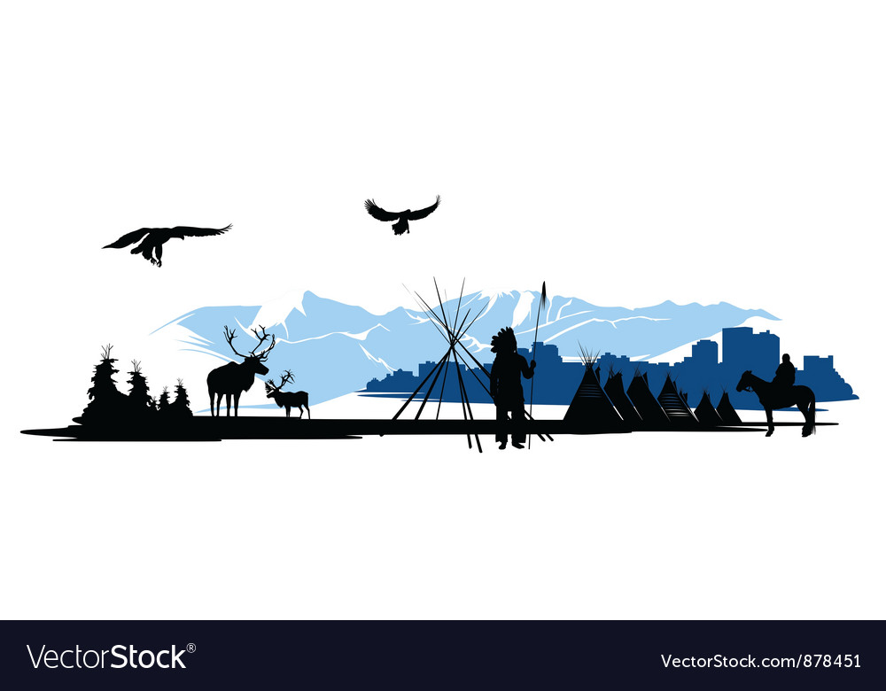 American indian natural background vector | Price: 1 Credit (USD $1)