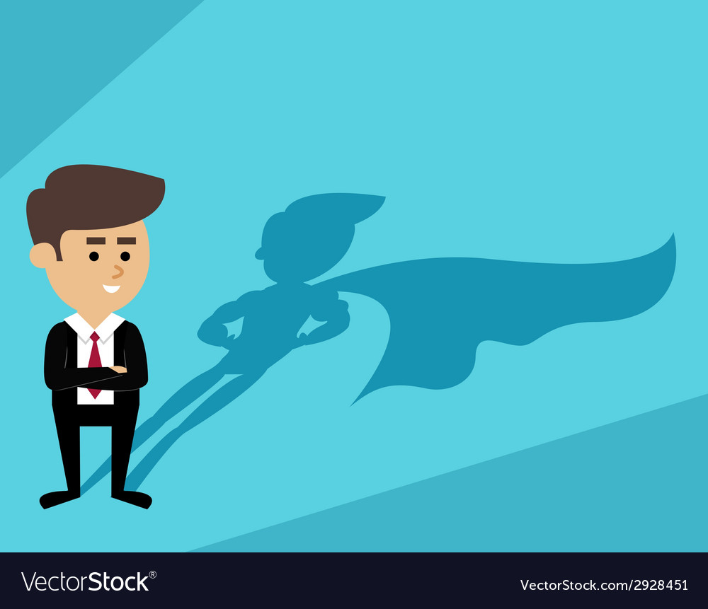 Businessman superman shadow vector | Price: 1 Credit (USD $1)
