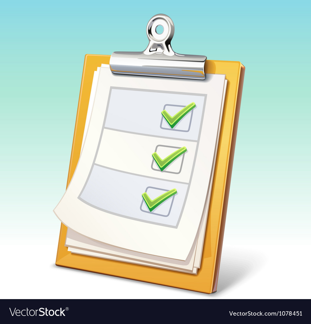 Clipboard vector | Price: 3 Credit (USD $3)
