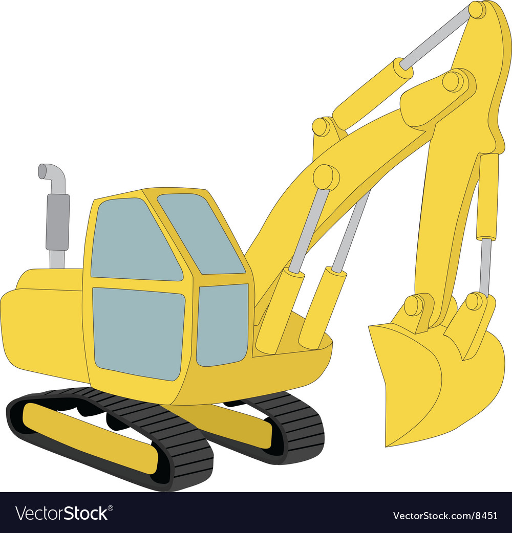 Excavator vector | Price: 1 Credit (USD $1)