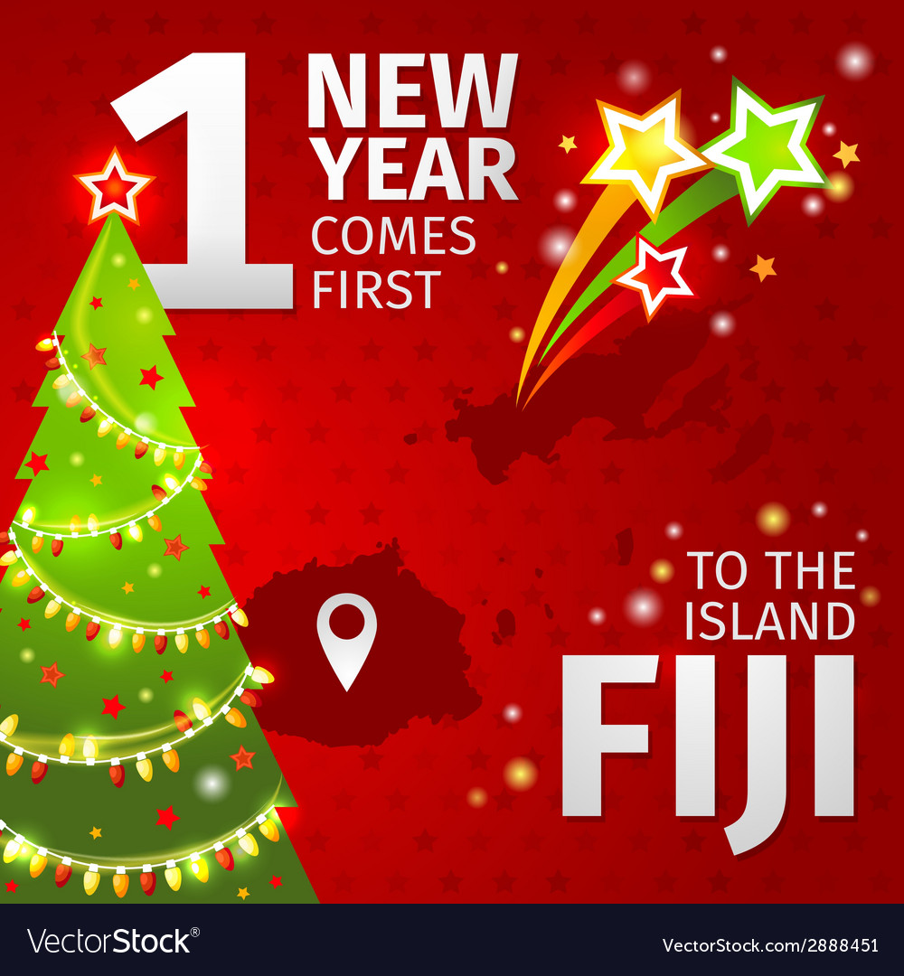 Infographic new year is coming first on the island vector | Price: 1 Credit (USD $1)