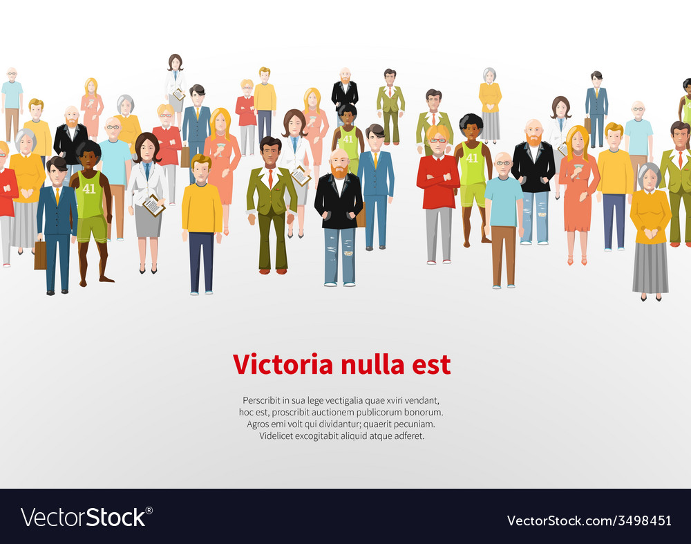 Large group of cartoon people background vector | Price: 1 Credit (USD $1)