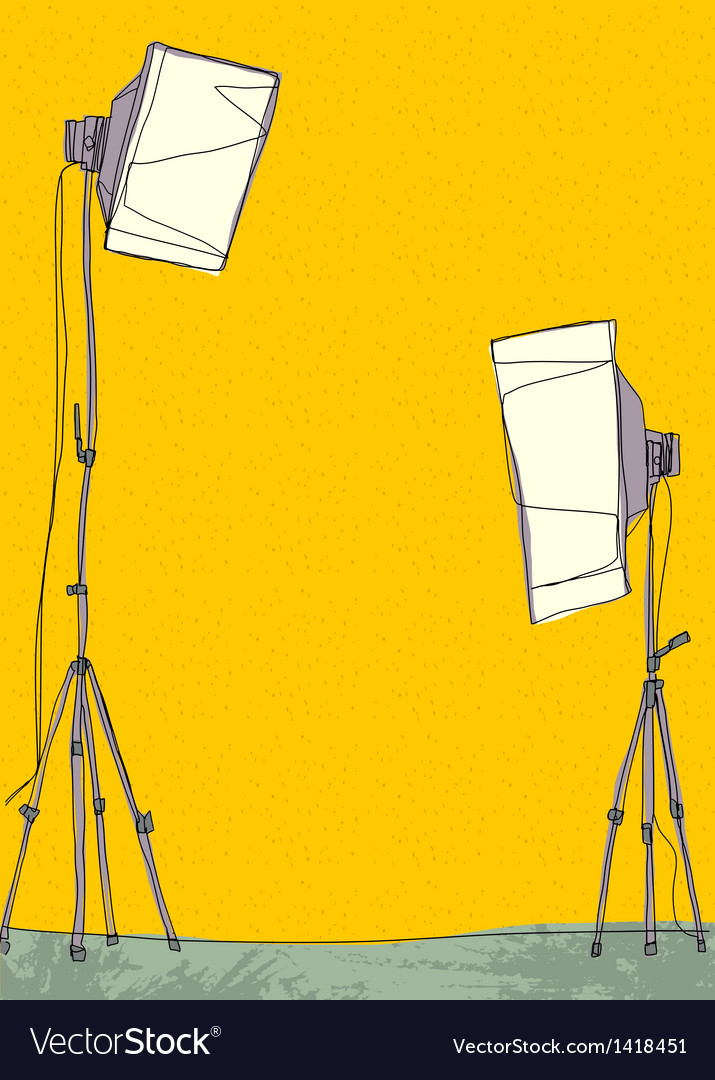 Light stands background vector | Price: 1 Credit (USD $1)