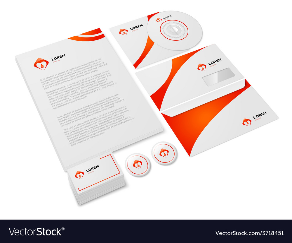Medical stationery set vector | Price: 1 Credit (USD $1)