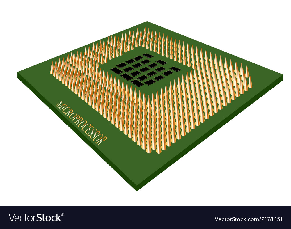 Microprocessor vector | Price: 1 Credit (USD $1)