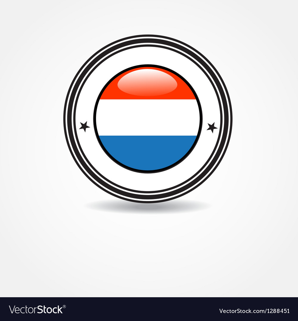 Netherlands flag in rubber stamp vector | Price: 1 Credit (USD $1)