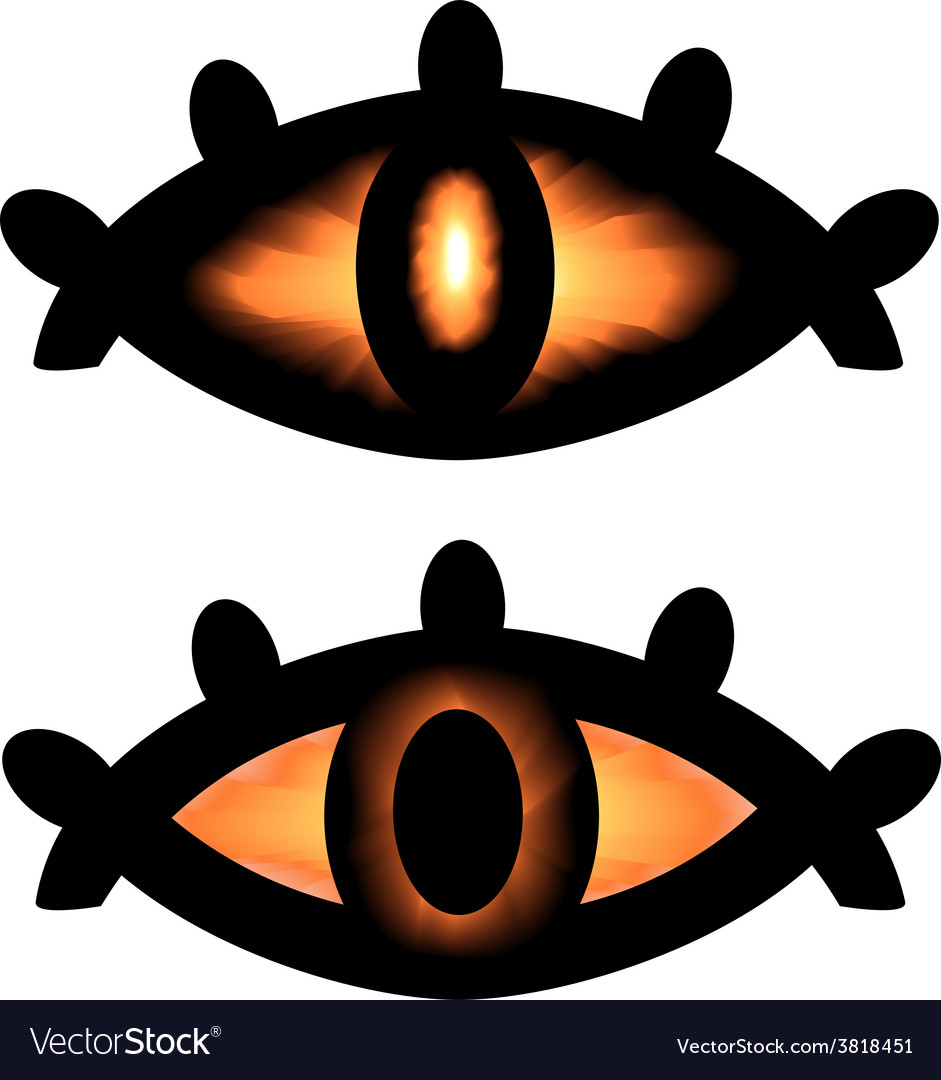 Pagan symbol eyes vector | Price: 1 Credit (USD $1)