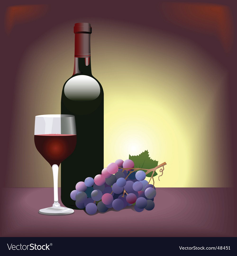 Red wine scene vector | Price: 1 Credit (USD $1)