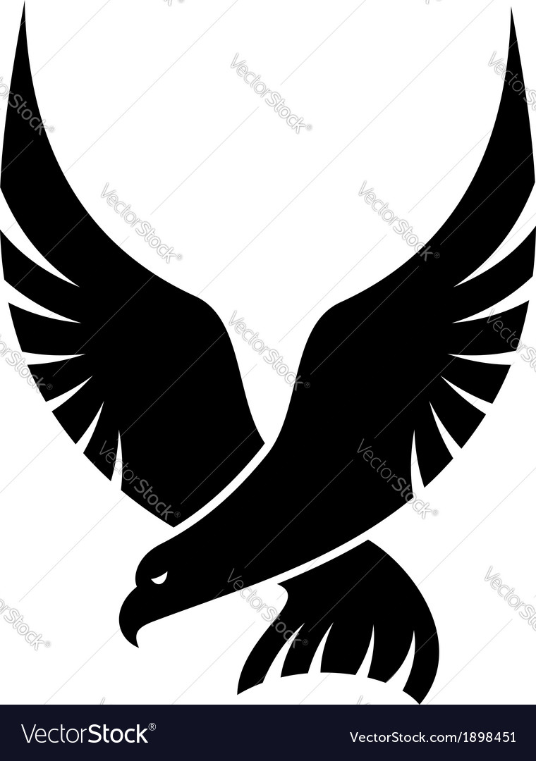 Swooping falcon bird vector | Price: 1 Credit (USD $1)