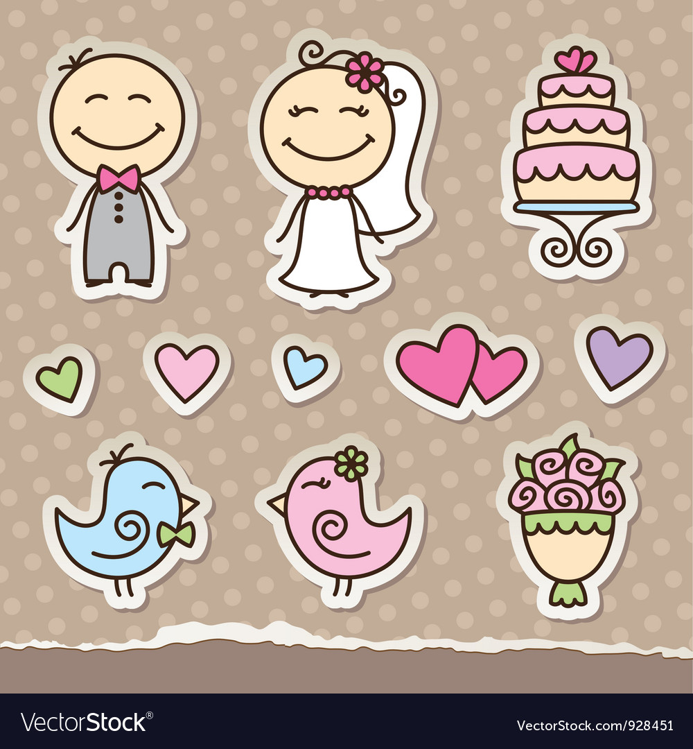Wedding stickers vector | Price: 1 Credit (USD $1)