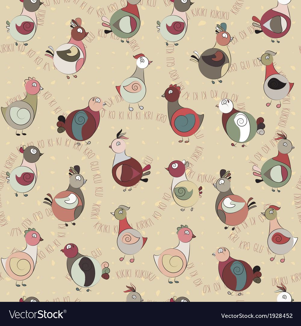 Abstract turkey bird chicken and pigeon vector | Price: 1 Credit (USD $1)