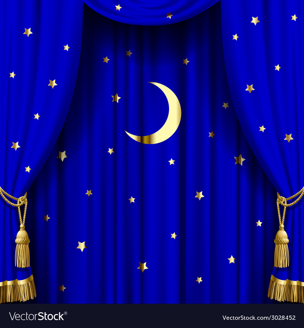Blue curtain vector   Price: 1 Credit (USD $1)