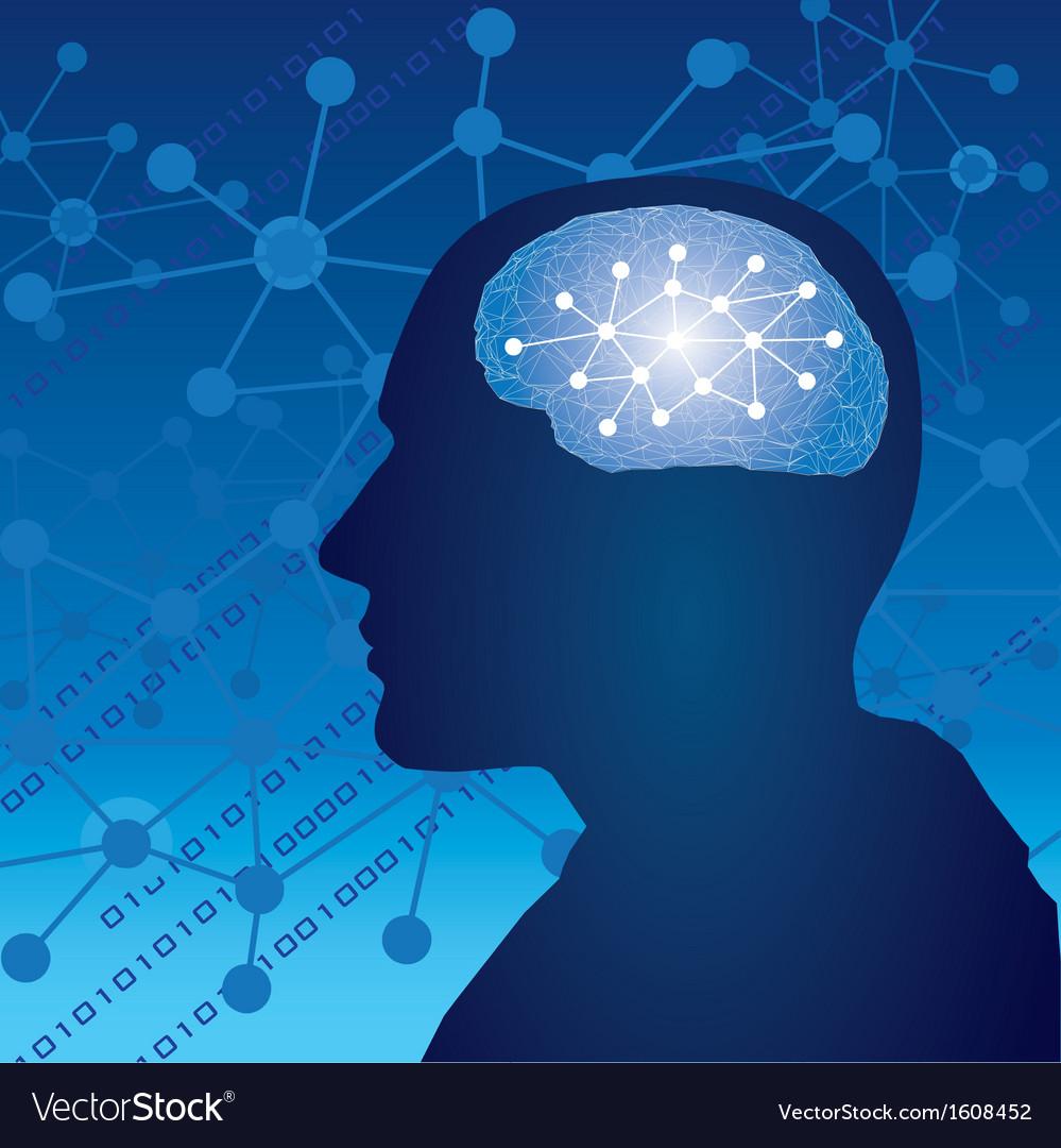 Brain human thinking concept vector | Price: 1 Credit (USD $1)