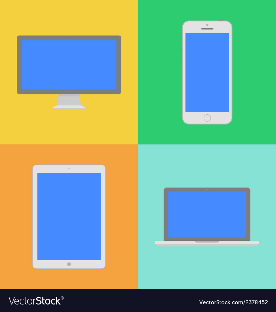 Display laptop tablet computer and mobile phone vector | Price: 1 Credit (USD $1)