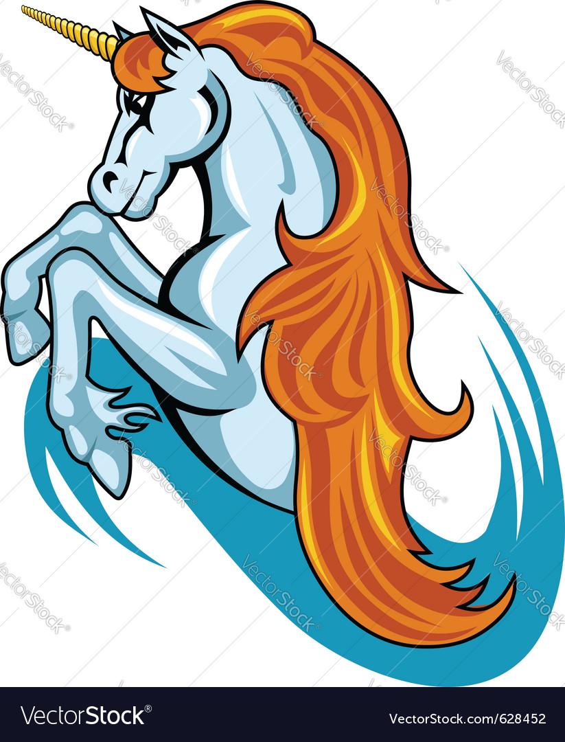 Fantasy unicorn horse vector | Price: 1 Credit (USD $1)