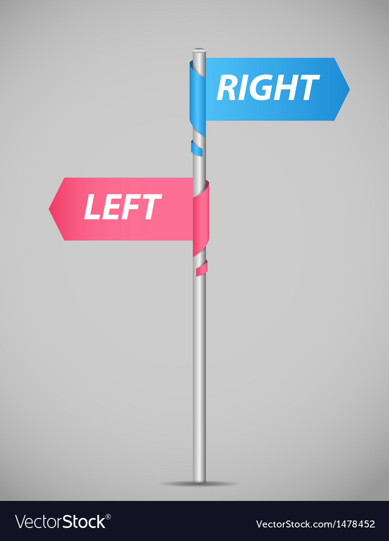 Left right pointer vector | Price: 1 Credit (USD $1)