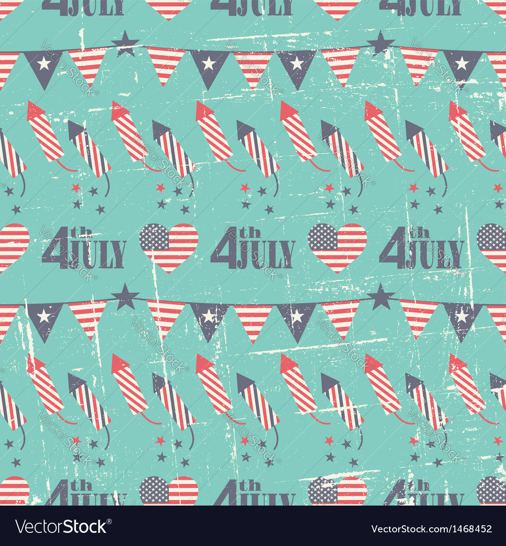 Patriotic seamless pattern for independence day vector | Price: 1 Credit (USD $1)