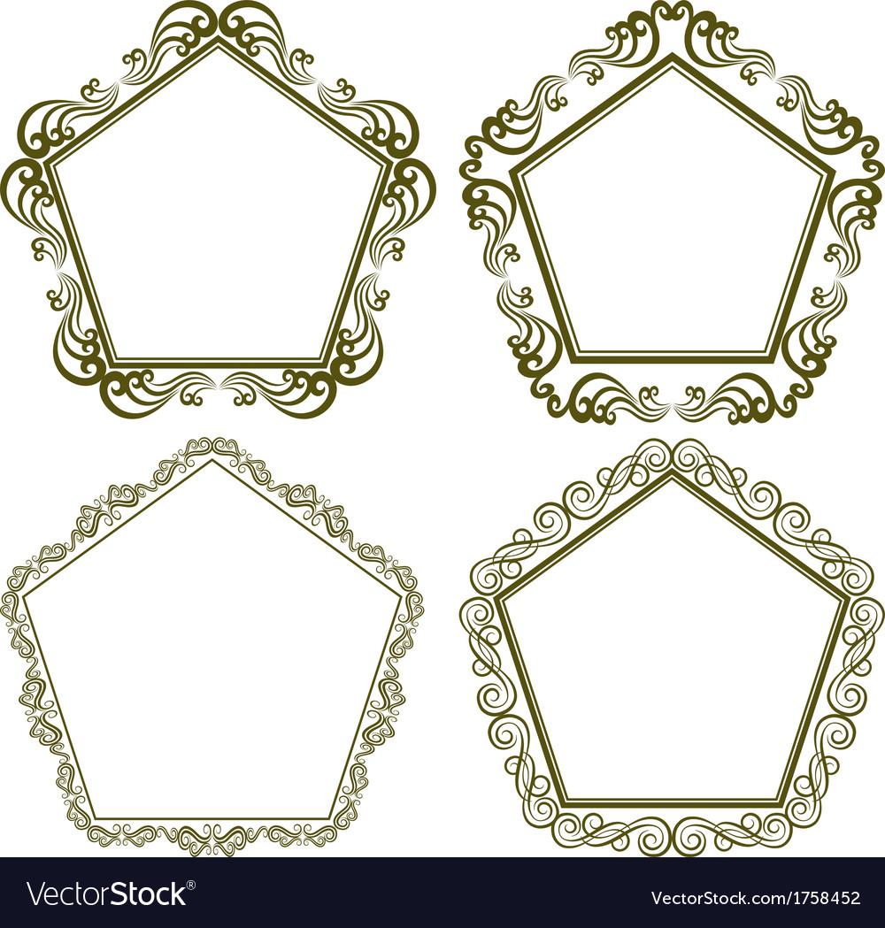 Pentagonal frame vector | Price: 1 Credit (USD $1)