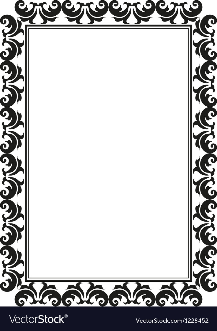 Rectangular frame vector | Price: 1 Credit (USD $1)