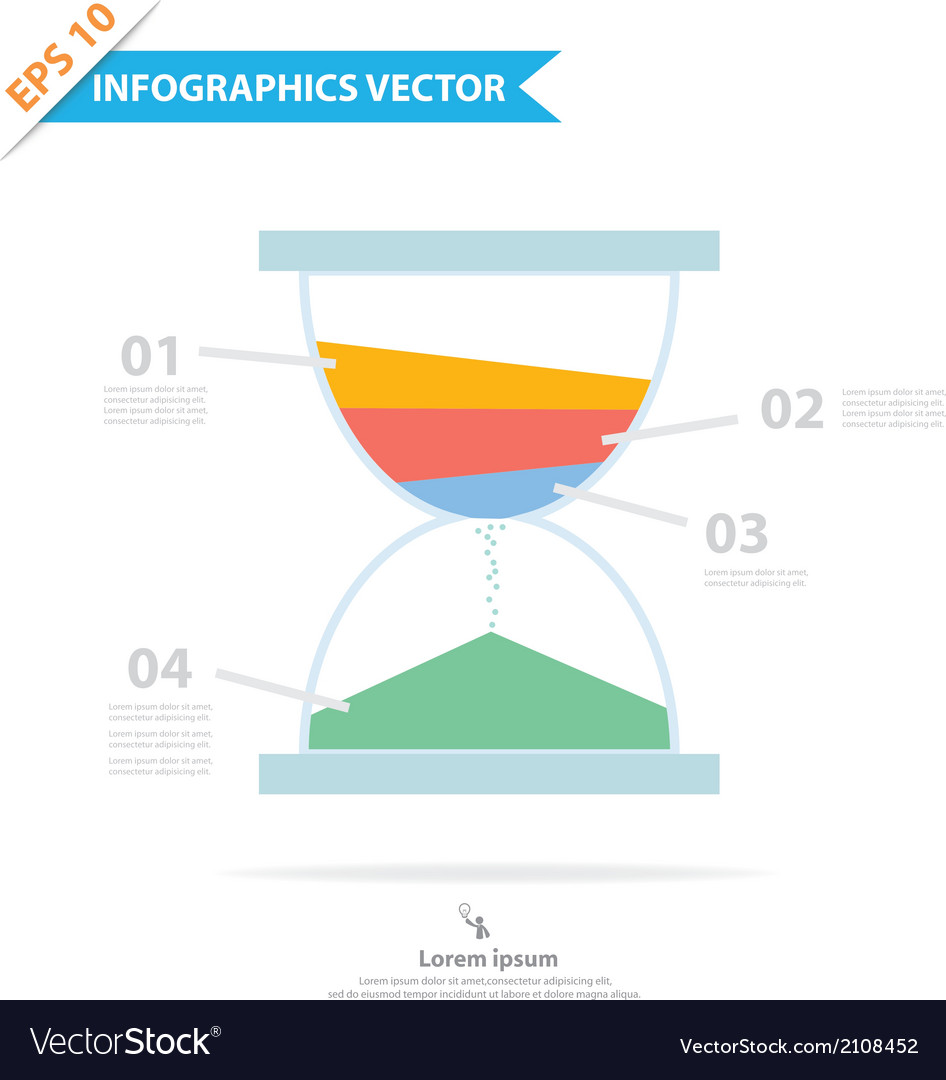 Sandclock infographics vector | Price: 1 Credit (USD $1)