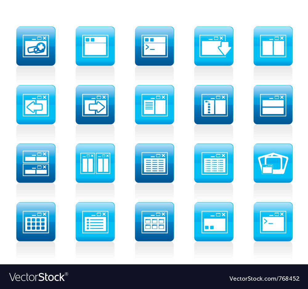 Server and computer icons vector | Price: 1 Credit (USD $1)