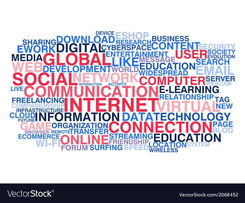 Social communication and internet connection vector | Price: 1 Credit (USD $1)