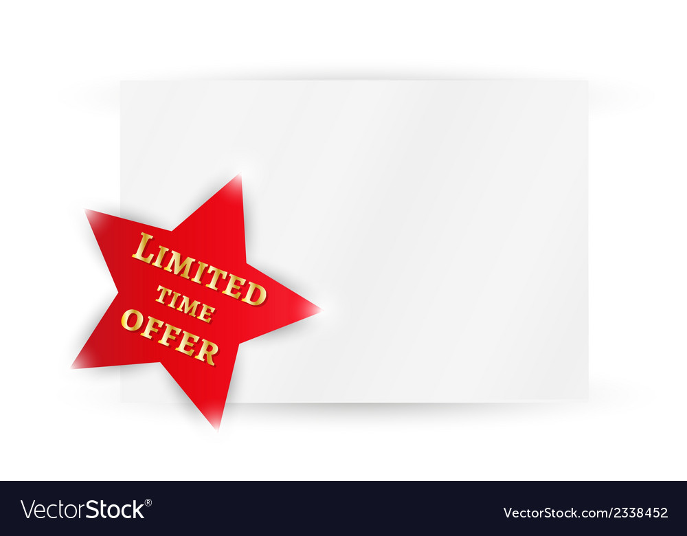Star with time limited offer vector | Price: 1 Credit (USD $1)