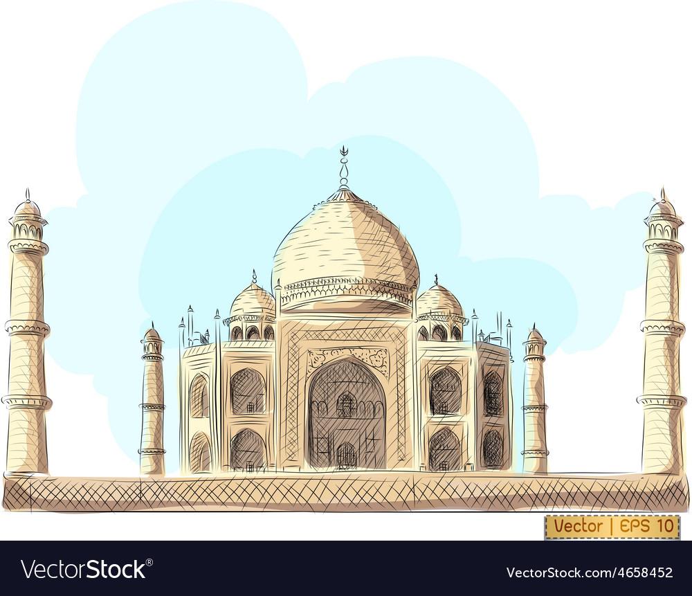 The taj mahal india vector | Price: 1 Credit (USD $1)