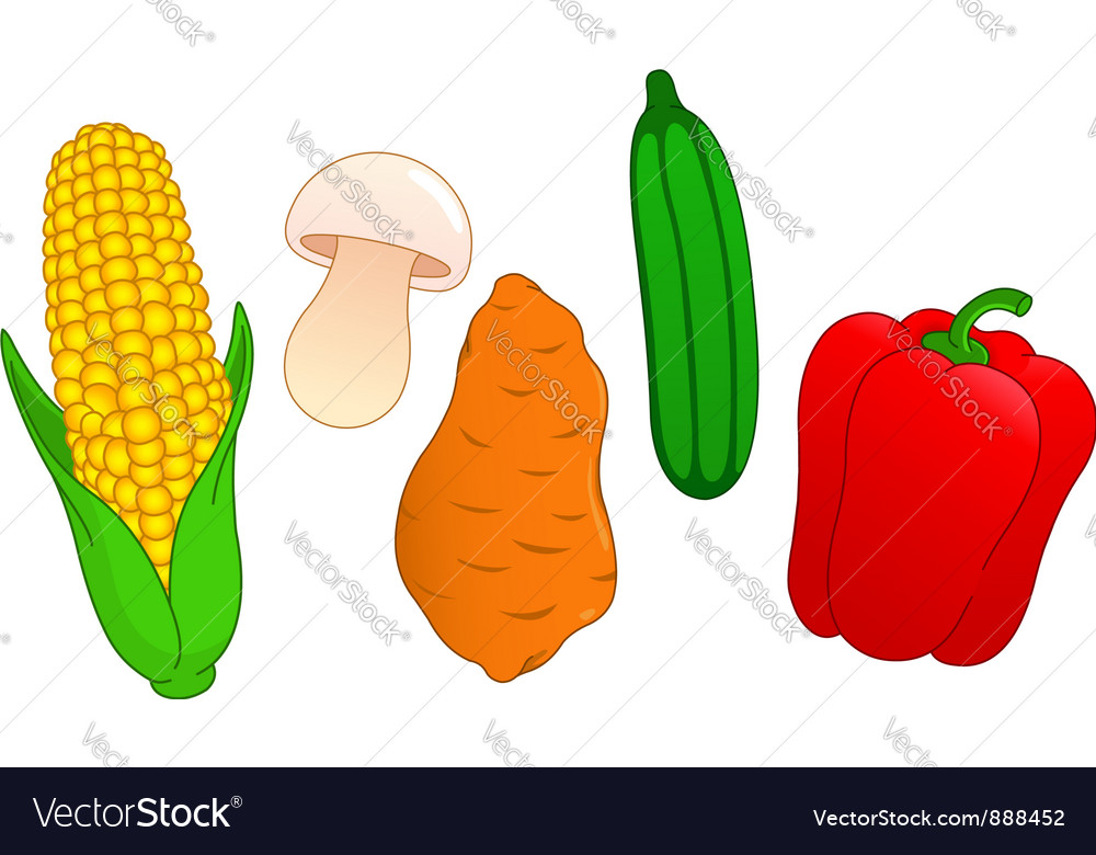 Vegetable set vector | Price: 1 Credit (USD $1)