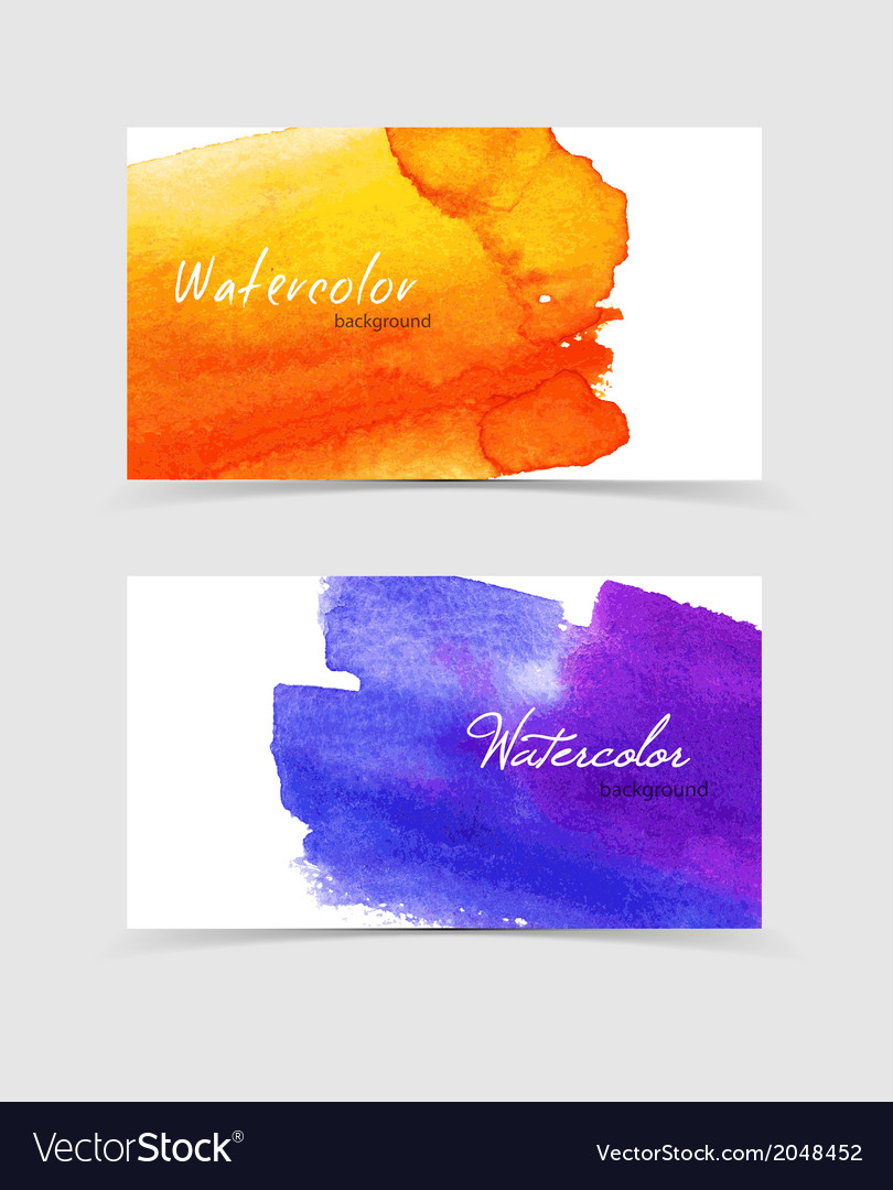 Watercolor design cards vector | Price: 1 Credit (USD $1)