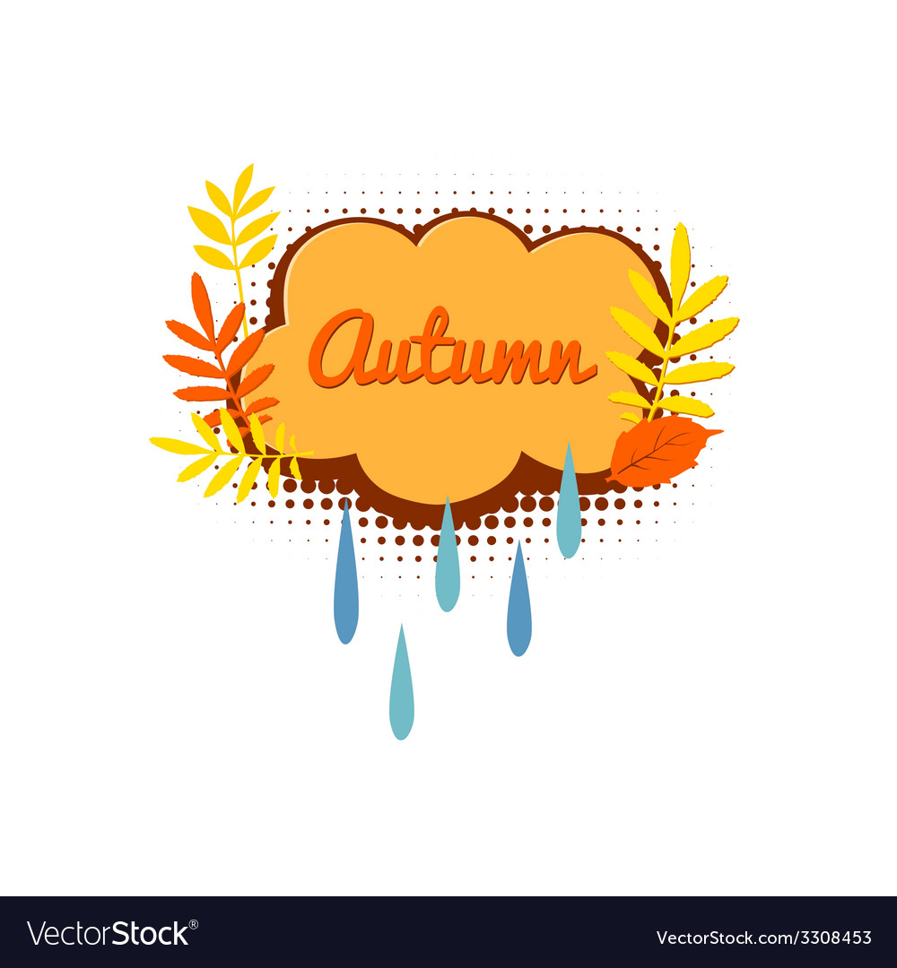 Autumn logo with autumn leaves vector