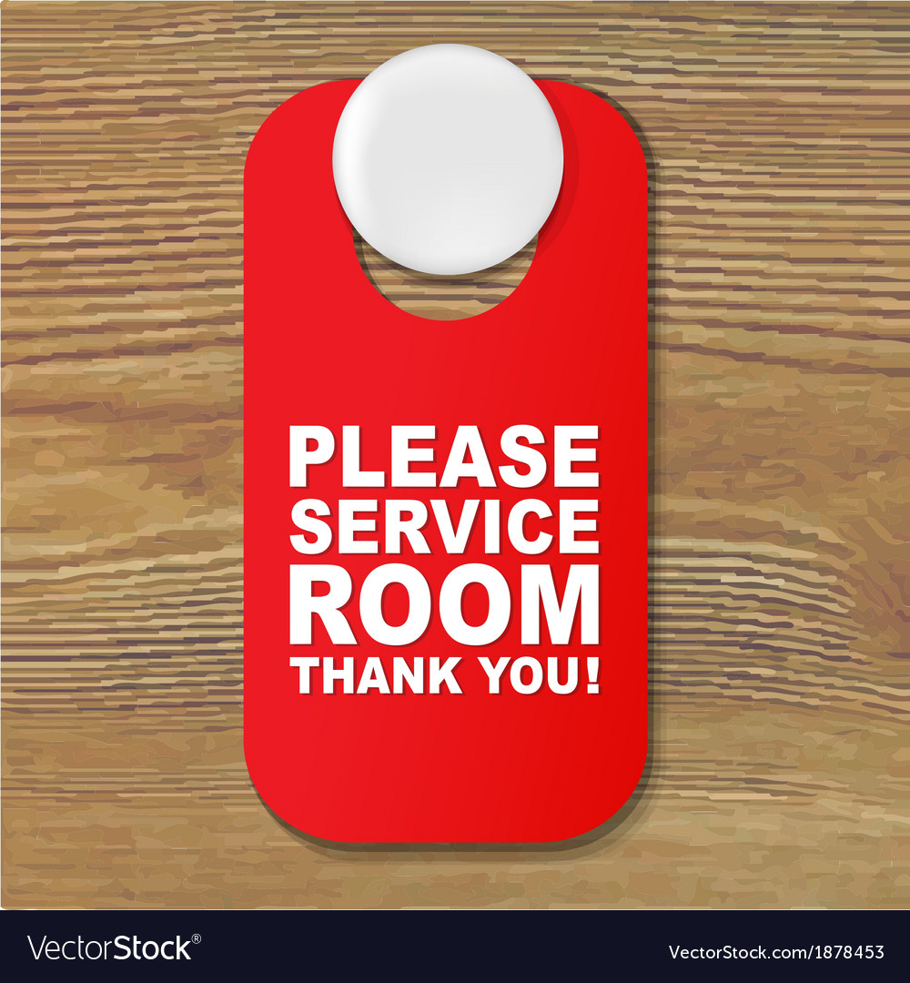 Do not disturb red sign vector | Price: 1 Credit (USD $1)