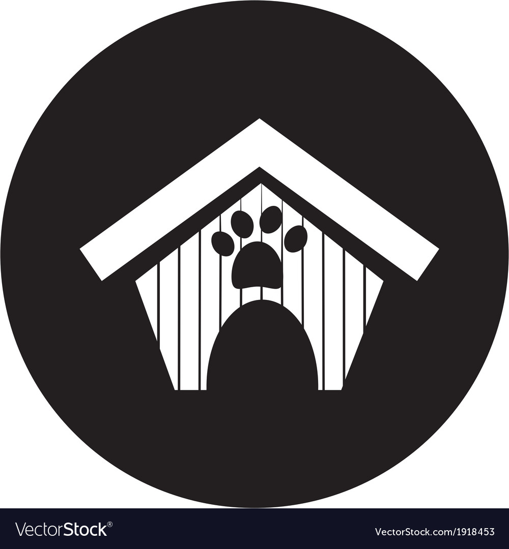 Dog house icon vector | Price: 1 Credit (USD $1)