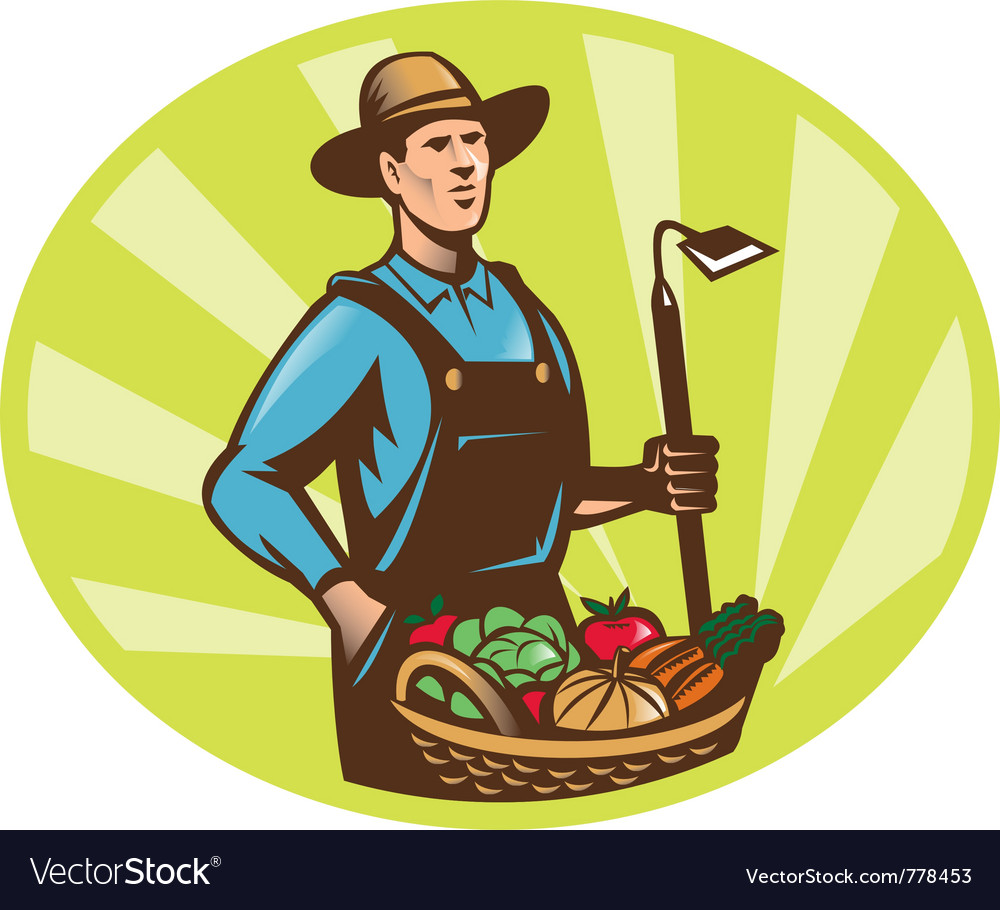 Farmer harvest icon vector | Price: 1 Credit (USD $1)