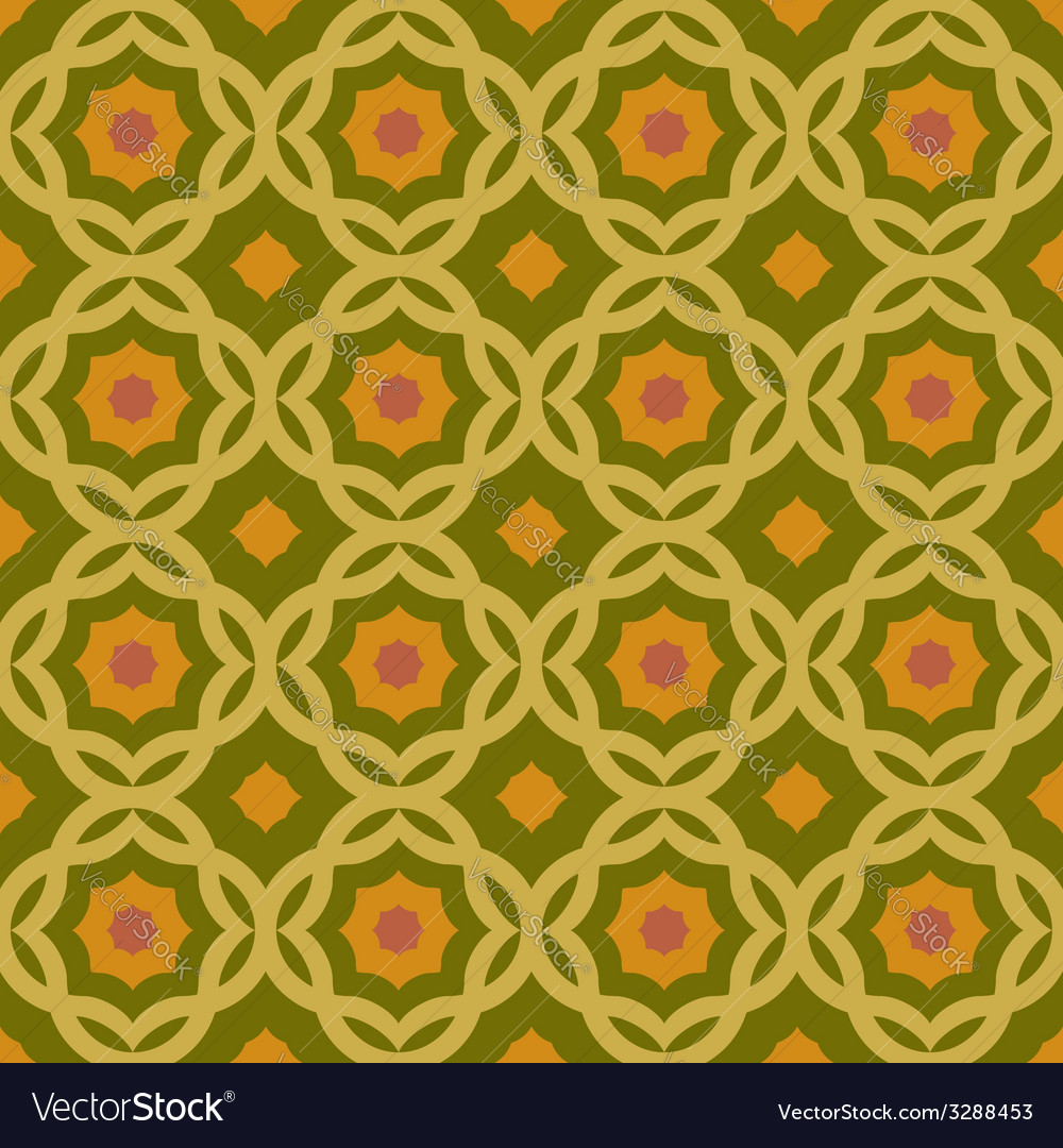 Old green geometric pattern vector | Price: 1 Credit (USD $1)