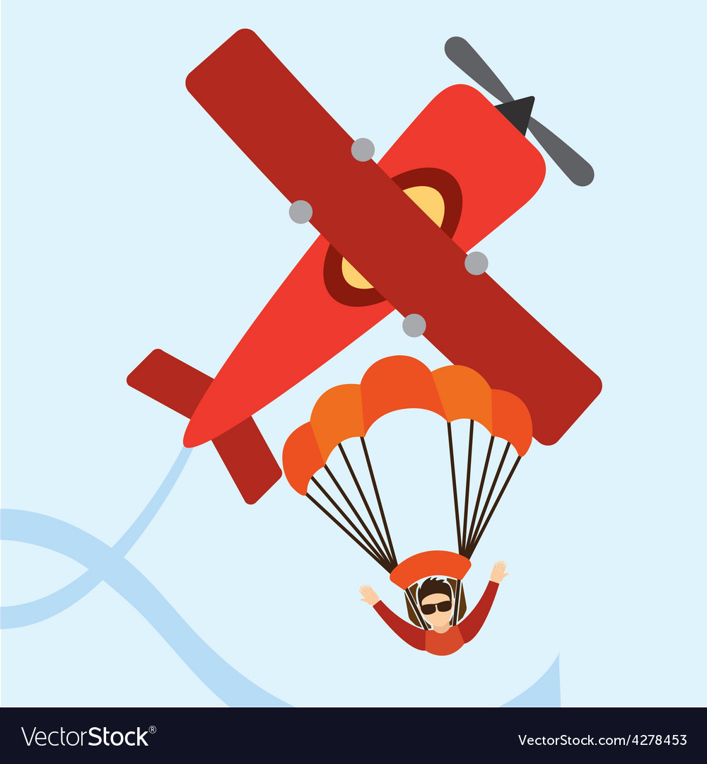 Parachute fly vector