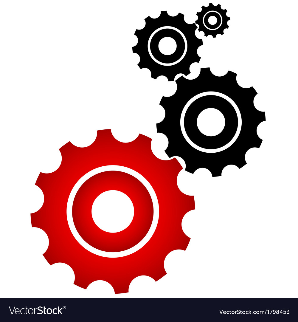 Red and black cogs vector | Price: 1 Credit (USD $1)
