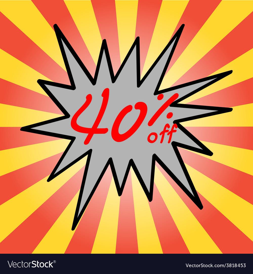 Sale 40 text vector   Price: 1 Credit (USD $1)