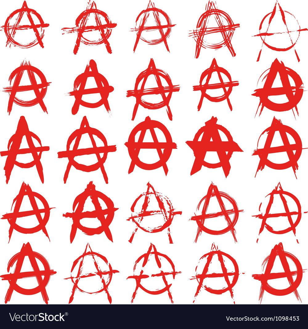 Signs anarchy vector