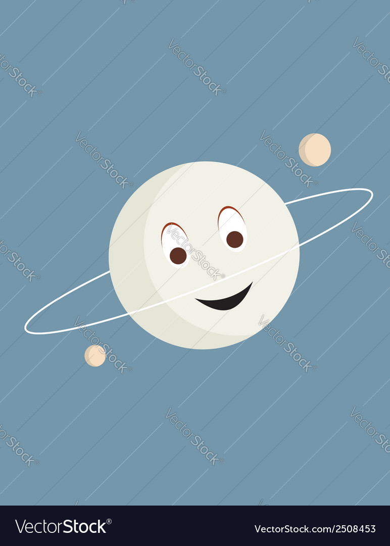 Smiling planet vector | Price: 1 Credit (USD $1)